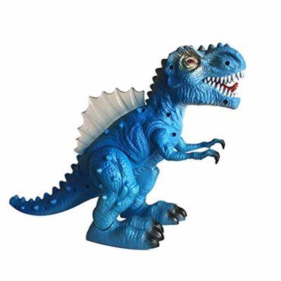 Alikeey Cartone Animato Giocattolo Educativo Drago Che Cammina Giocattolo Elettrico Ruggente Tirannosauro Rex Dinosauro Regalo Di Natale 0