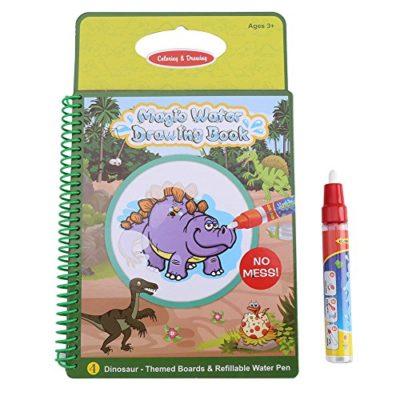 Acqua Libro Da Colorare Acqua Magica Libro Di Disegno Riutilizzabile Quadro Dipinto Con Penna Giocattoli Educativi Di Apprendimento Del Giocattolo Per Il Bambino Del Bambinomodello Di Dinosauro 0