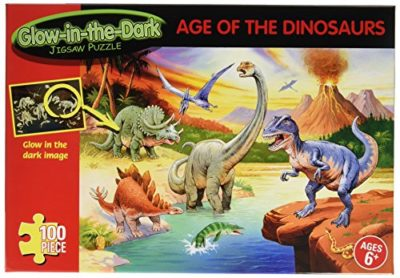 Age Of The Dinosaurs Glow In The Dark Puzzle 100 Pezzi 0