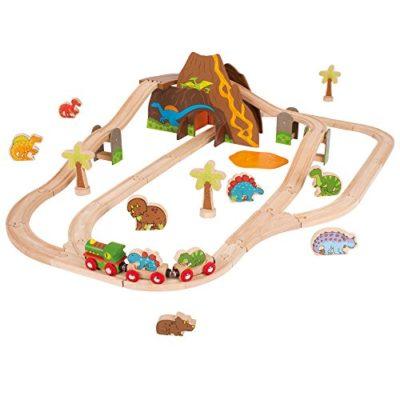 Bigjigs Rail Set Per Ferrovia Dei Dinosauri 0