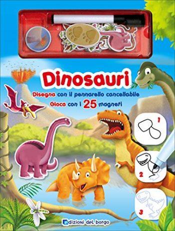 Dinosauri Disegna Con Il Pennarello Cancellabile Gioca Con I 25 Magneti Con Gadget Cartonato 21 Ott 2015 0