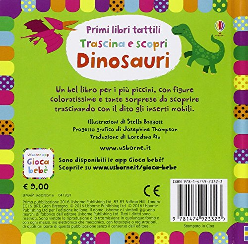 Dinosauri Trascina E Scopri Primi Libri Tattili Ediz Illustrata Cartonato 15 Set 2016 0 0
