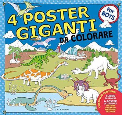 Dinosauri Aeroporto Stazione Fattoria 4 Poster Giganti Da Colorare For Boys Ediz A Colori A Fogli Intercambiabili 25 Mag 2017 0