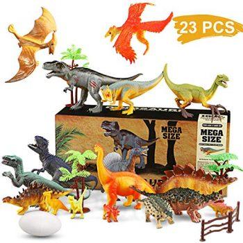 Dinosauro Giocattolo Realistico Giocattolo Dinosauro Educativo Edificio Di Dinosauro Jurassic Mondo Giocattoli Per Bambini 17pcs Giocattoli Dinosauro 6pcs Uova Di Dinosauro E Piante Artificiali 0