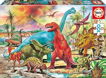 Educa Borrs Puzzle 100pz Dinosauri Colore Various Eb13179 0