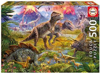 Educa Puzzle 500pz Raduno Di Dinosauri Colore Vario 841266815969 0