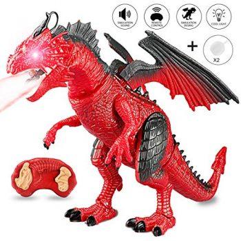 Estela Dinosauro Giocattolo Rc Rex Dinosauro Action Figure Jurassic Mondo Giocattoli Perfetti Per Giocare O Per Regalo Per Feste Di Bambini Red 0