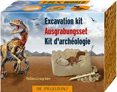 Giocattoli Modellino Archeologia Paleontologia Set Roccia Da Scolpire Con Dinosauro Velociraptor Serie T Rex World 0