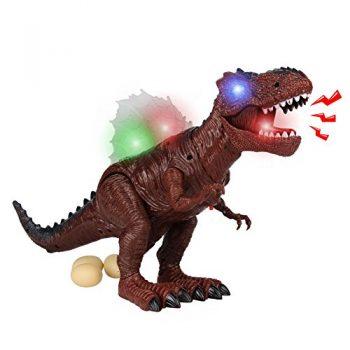 Giocattoli Di Dinosauro T Rex Tirannosauro Rex Con Uovo E Suono Modello Camminate Dinosauro Marrone 0