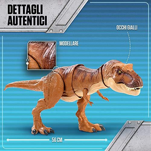 Jurassic World T Rex Morso Letale Dinosauro Con Suoni Protagonista Del Film Fmy70 0 0
