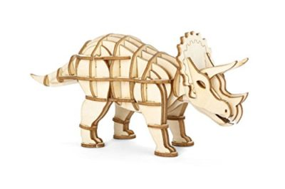 Kikkerland Triceratops 3d Wooden Puzzle Gg122 0