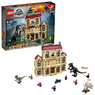 Lego Jurassic World Set Mattoncini Attacco Dellindoraptor Al Lockwood Estate 75930 0