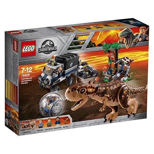 Lego Jurassic World Set Mattoncini Fuga Sulla Girosfera Del Carnotaurus 75929 0 1