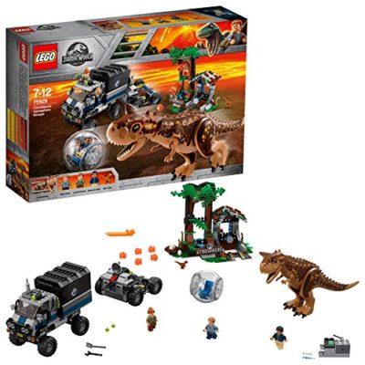 Lego Jurassic World Set Mattoncini Fuga Sulla Girosfera Del Carnotaurus 75929 0