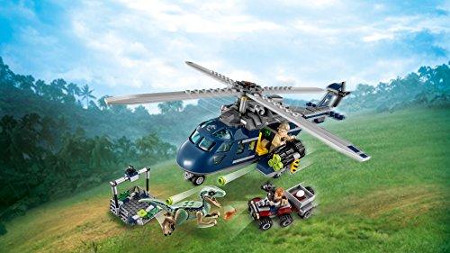 INSEGUIMENTO SULL/'ELICOTTERO DI BLUE LEGO JURASSIC WORLD 75928