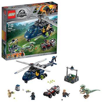 Lego Jurassic World Set Mattoncini Inseguimento Sullelicottero Di Blue 75928 0