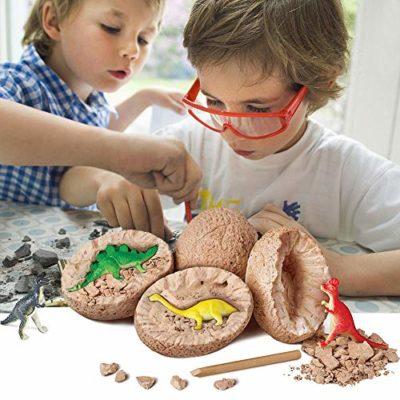 Mega Dinosaur Excavation Kit Womdee Mini Dinosauri Scavare Giocattoli Dino Kit Di Scavo Fossile Con T Rex Spinosaurus Triceratopo Per Archeologia E Paleontologia Kids 1 Confezione 0