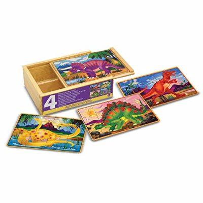 Melissa Doug 13791 4 Puzzle In Legno Dinosauri 0