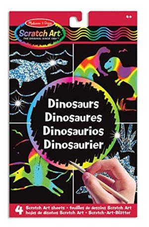 Melissa Doug 15917 Fogli Di Disegni Scratch Art Dinosauri 0