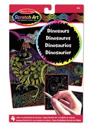 Melissa Doug 15957 Disegni Rivela Colore Scratch Art Dinosauri 0