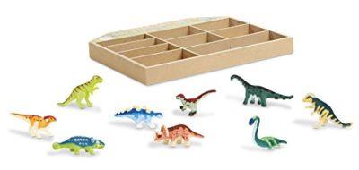 Melissa Doug Cassetta Con 9 Dinosauri In Miniatura Da Collezione 12666 0