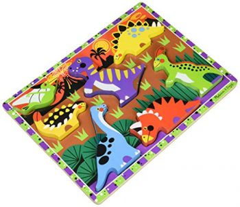 Melissa And Doug Puzzle In Legno Chunky Dinosauri 0