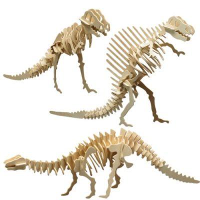 Pebaro 856 Set Di Modellini In Legno Di Scheletri Dinosauri 0
