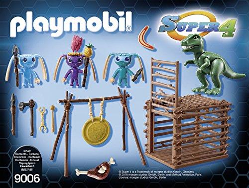 Playmobil 9006 Guerrieri Alien Con Trappola Per T Rex Multicolore 0 0