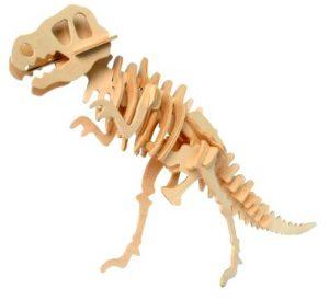 Prime24h Set Di Puzzle Di 3d In Legno Dinosauro T Rex 3d Modello Di Assemblaggio Per Bambini E Adulti 0