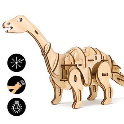 Rokr Dinosauro A Distanza Di Giocattoli Puzzle Di Legno 3d Con Controllo Del Suono Kit Di Modelli Di Legno Per I Bambini 8 9 10 11 12 13 14 Anni Up Il Miglior Regalo Per Gli Adultiapatosauru 0
