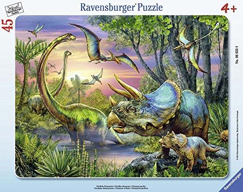 Ravensburger 06633 Dinosauri Puzzle Incorniciato 45 Pezzi 0