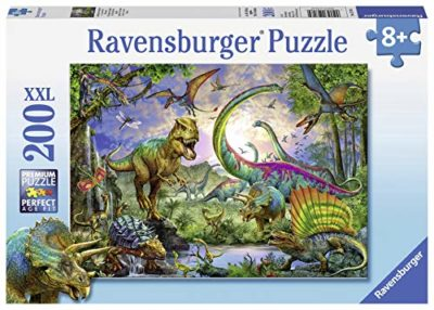 Ravensburger 12718 Nel Regno Dei Giganti Dinosauri Puzzle 200 Pezzi Xxl 0