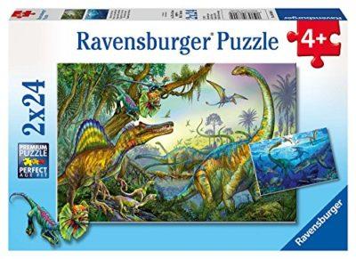 Ravensburger Dinosauri Puzzle 2x24 Pezzi 0
