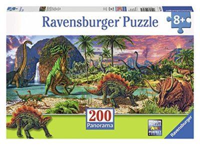 Ravensburger Italy Nel Paese Dei Dinosauri Panorama Puzzle 200 Pezzi 12747 0