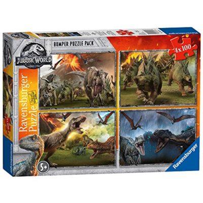 Ravensburger Jurassic World Puzzle 4x100 Pezzi 6976 0