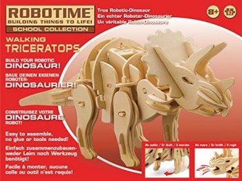 Robotime Kit 82pz Dinosauro Piccolo Legno Triceratopo Rt 9109 0