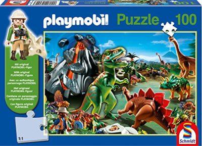 Schmidt Playmobil Puzzle Per Bambini Tematica Nella Terra Dei Dinosauri 0