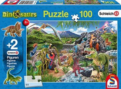 Schmidt Puzzle Nel Regno Dei Dinosauri Schleich Con Due Figurine 56192 0
