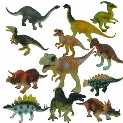 Yeelan Dinosauro Giocattolo Figure Statue Impostata Per Boys Girls Confezione Da 12 Pcs Assortiti Dino 0