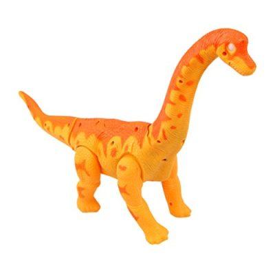 Yier Giocattoli Elettronici Arancione Walking Brachiosaurus Dinosaur 0