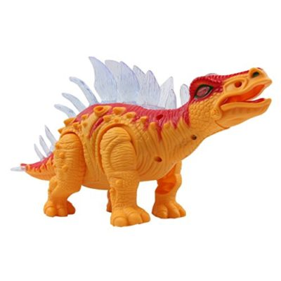 Yier Giocattoli Elettronici Arancione Walking Stegosaurus Dinosauro 0