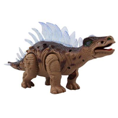Yier Giocattoli Elettronici Grigio Walking Stegosaurus Dinosaur 0