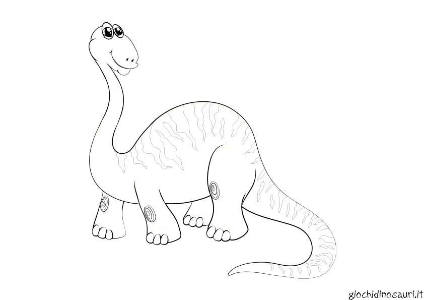 Immagine Brontosauro Da Colorare