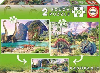 Educa Puzzle 2x100pz Mondo Dino Colore Vario 841266815620 0