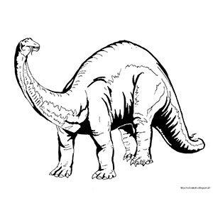 Brontosauro da colorare