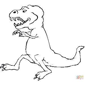 Tirannosauro da colorare