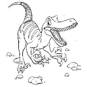 Velociraptor da colorare