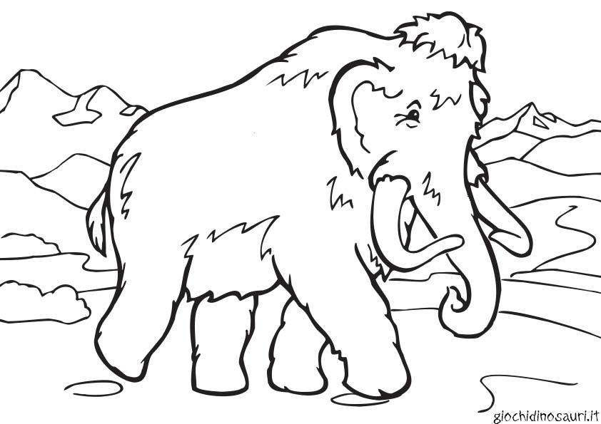Era Glaciale Da Colorare.Mammut Era Glaciale Da Stampare E Da Colorare Con Acquerelli O Pennarelli