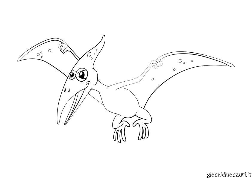 Pterodattilo Dinosauro Con Le Ali