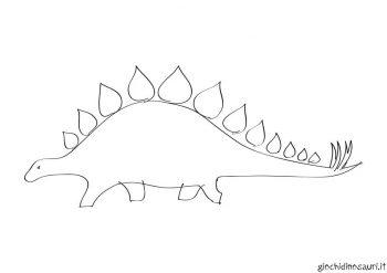 Stegosauro Con Aculei Da Colorare